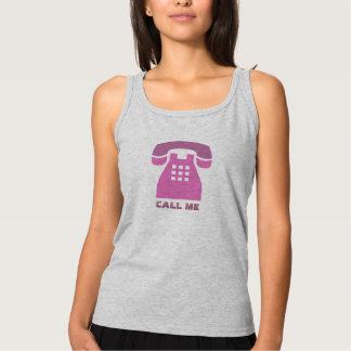 Stilistischer Retro rosa Telefon-Anruf ich alle Tank Top