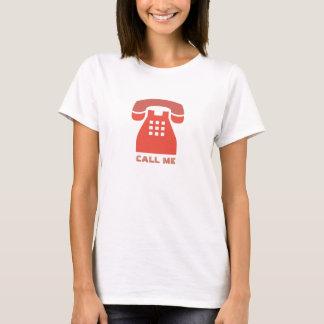 Stilistischer Vintager roter Telefon-Anruf ich T-Shirt