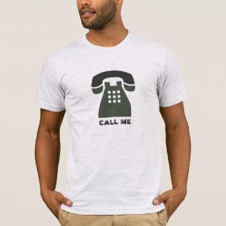 Stilistischer Vintager Telefon-Anruf ich alle T-Shirt