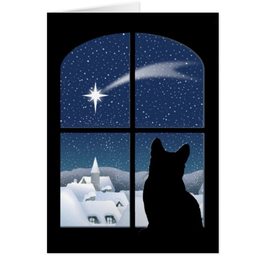 Stille Nacht, heilige Nachtkarte Grußkarte