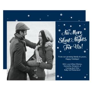 Stille Nachtschwangerschafts-Weihnachtsmitteilung 12,7 X 17,8 Cm Einladungskarte