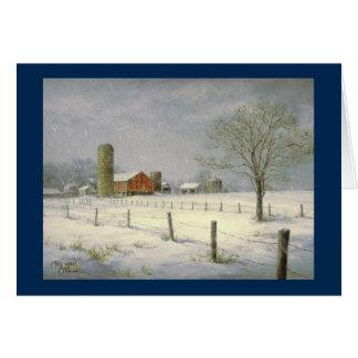 """""""Stille Schneefall-"""" Weihnachtskarte Pauls McGehee Grußkarte"""