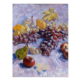 Stillleben: Äpfel, Birnen, Trauben - Van Gogh Postkarte