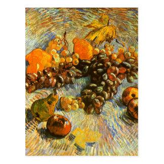 Stillleben mit Äpfeln, Birnen, Trauben - Van Gogh Postkarte