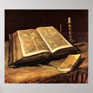 Stillleben mit Bibel durch Vincent van Gogh Poster