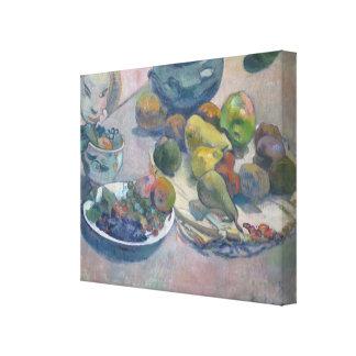 Stillleben mit Früchten durch Paul Gauguin Leinwanddruck