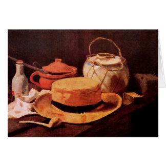 Stillleben mit gelbem Strohhut durch Van Gogh Karte