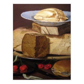 Stillleben mit Käsen, Artischocke - Clara Peeters Postkarte