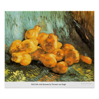Stillleben mit Quitten durch Vincent van Gogh Poster