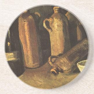 Stillleben mit Steinflaschen durch Vincent van Getränkeuntersetzer