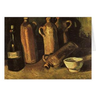 Stillleben mit Steinflaschen durch Vincent van Karte