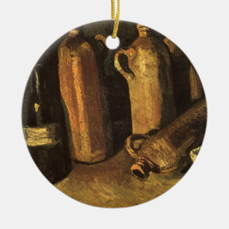 Stillleben mit Steinflaschen durch Vincent van Keramik Ornament