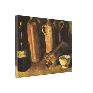 Stillleben mit Steinflaschen durch Vincent van Leinwanddruck