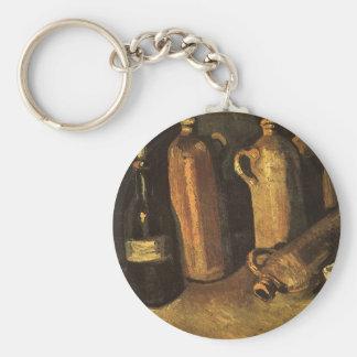 Stillleben mit Steinflaschen durch Vincent van Schlüsselanhänger