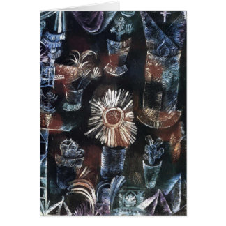Stillleben Pauls Klee- mit Distel-Blüte Karte
