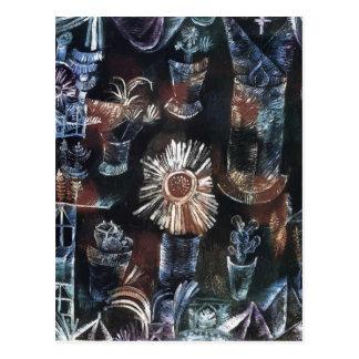 Stillleben Pauls Klee- mit Distel-Blüte Postkarte