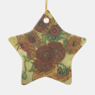 Stillleben: Sonnenblumen Keramik Ornament