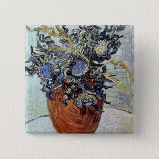 Stillleben Vincent van Goghs | mit Disteln, 1890 Quadratischer Button 5,1 Cm