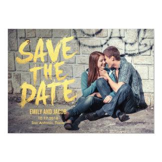 Stilvoll gebürstete Foto-Save the Date Karte 12,7 X 17,8 Cm Einladungskarte