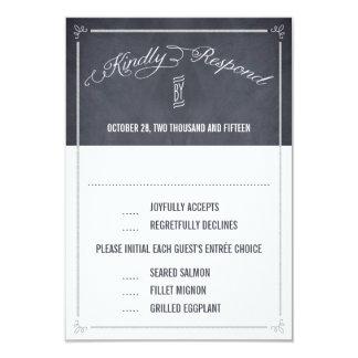 Stilvoll geweißte Wedding Antwort/UAWG Karten 8,9 X 12,7 Cm Einladungskarte