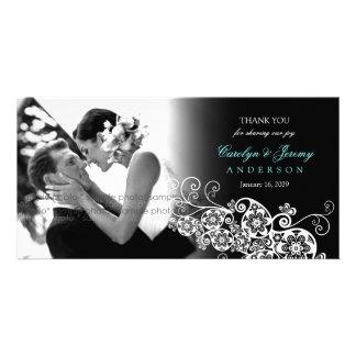 Stilvolle Blumenschicke Hochzeit paisleys Boho dan Fotokarten