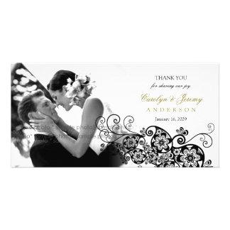 Stilvolle Blumenschicke Hochzeit paisleys Boho Foto Grußkarte