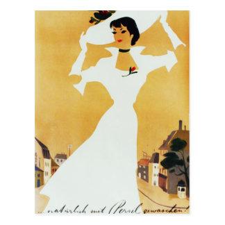 Stilvolle Dame Postkarte