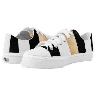 Stilvolle gestreifte ZipZ Tennis-Schuhe Niedrig-geschnittene Sneaker