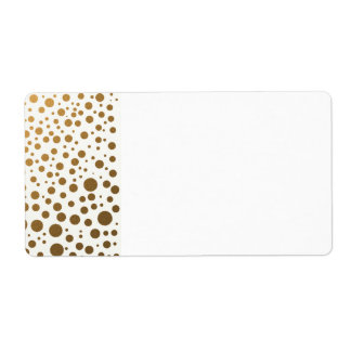 Stilvolle Goldfolieconfetti-Punkte