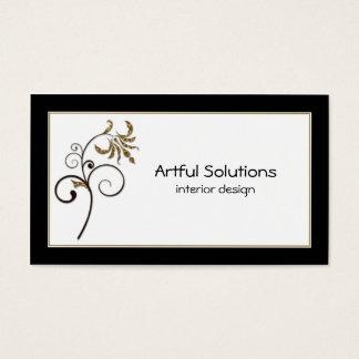 Stilvolle Goldschwarz-Strudel-Visitenkarte Visitenkarte