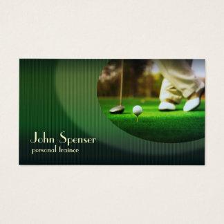 Stilvolle Golf-Trainer-Putter-Visitenkarte Visitenkarte