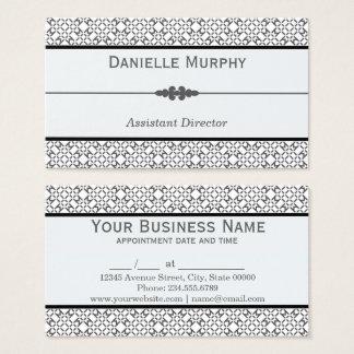 Stilvolle graue und weiße geometrische Verabredung Visitenkarte