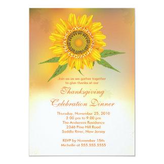 Stilvolle Herbst-Sonnenblume-Erntedank-Einladungen 12,7 X 17,8 Cm Einladungskarte