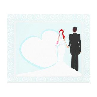 stilvolle Hochzeit dehnte Leinwand-Druck aus Gespannter Galerie Druck