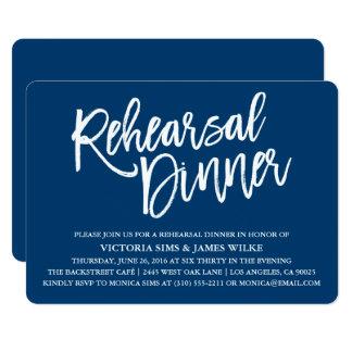 Stilvolle Kalligraphie-Proben-Abendessen-Einladung Karte