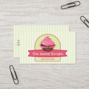 Stilvolle Kuchen Nachtische Visitenkarte