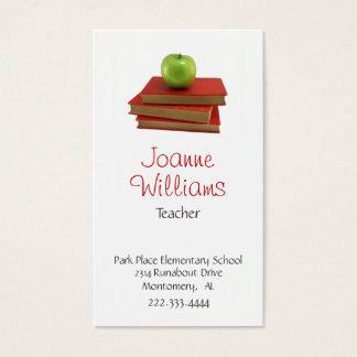 Stilvolle Lehrer-Visitenkarte Visitenkarte