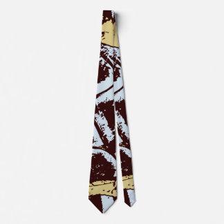 Stilvolle moderne abstrakte blaues bedruckte krawatte