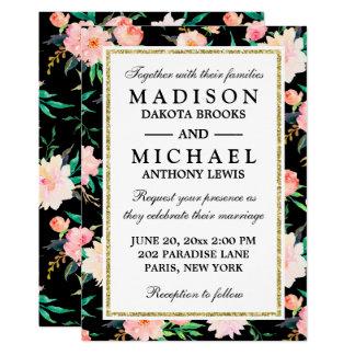 Stilvolle moderne BlumenRosen, die Einladung