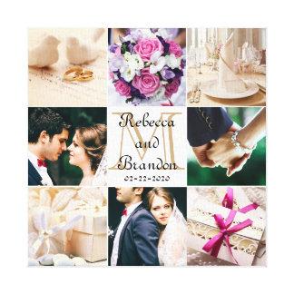 Stilvolle moderne Hochzeits-mit Monogramm Leinwand Druck