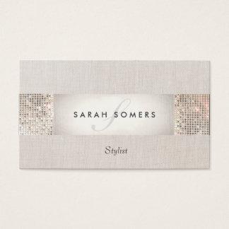 Stilvolle moderne silberne visitenkarten