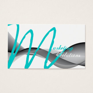 Stilvolle moderne visitenkarte