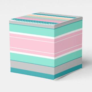 Stilvolle Pastelllinien Geschenkschachtel