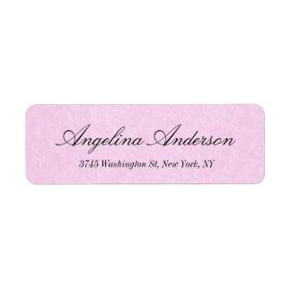 Stilvolle rosa elegante Handschrifts-modernes Kleiner Adressaufkleber