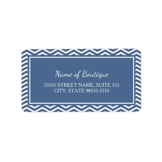 Stilvolle Schiefer-Blau-Sparren Adressaufkleber
