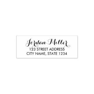 Stilvolle Skript-Namen-Zuhause-Adresse Permastempel