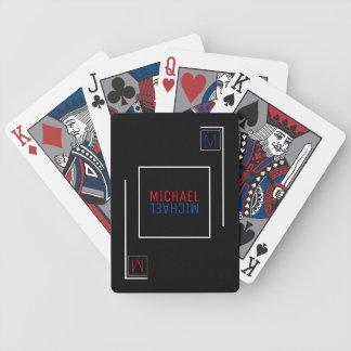 stilvolle u. geometrische Spielkarten mit Namen