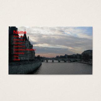 Stilvolle Visitenkarte mit Sonnenuntergang in