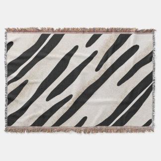Stilvolle Zebra-Druck-Wurfsdecke Koordinate Decke