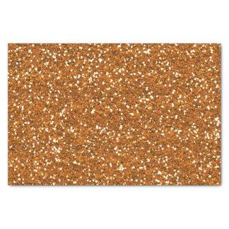 Stilvoller goldener orange Glitter Seidenpapier